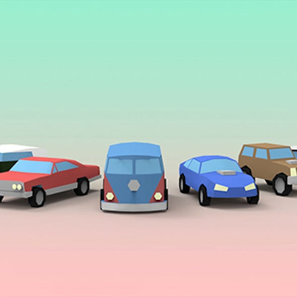 Low Poly Oldtimer Cars
