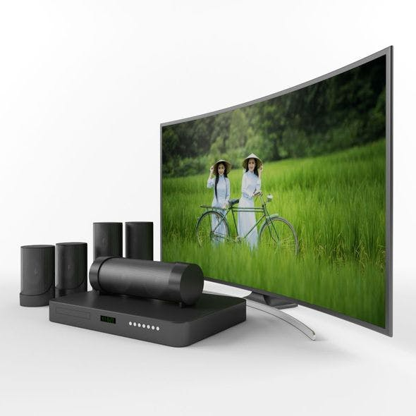 Samsung Curved television - 3DOcean Item for Sale