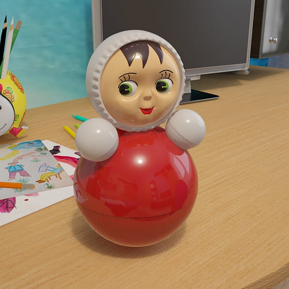 Tumbler. Children's plastic toy. - 3DOcean Item for Sale