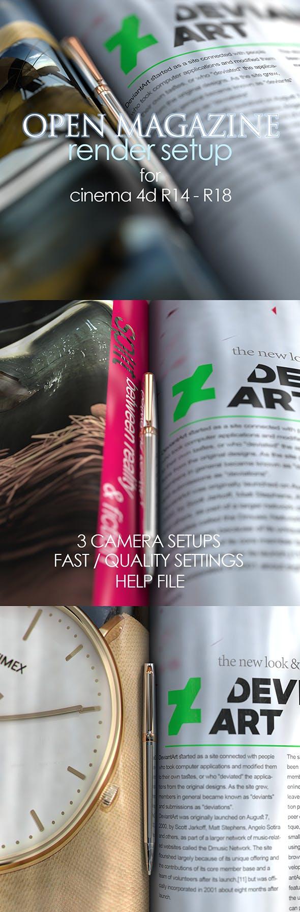Realistic Magazine Render Setup - 3DOcean Item for Sale