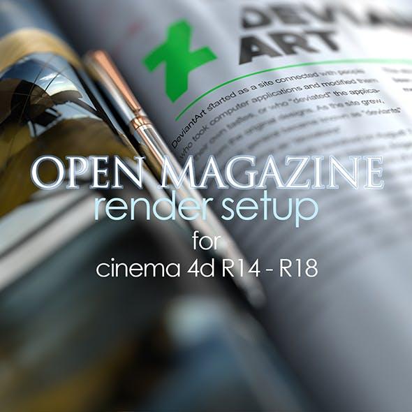 Realistic Magazine Render Setup