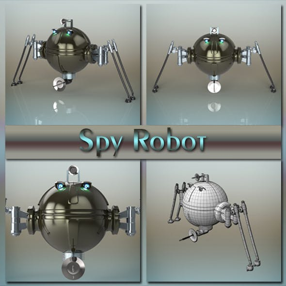 Spy robot - 3DOcean Item for Sale