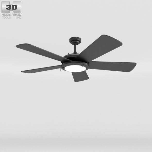 Ceiling Fan Black - 3DOcean Item for Sale