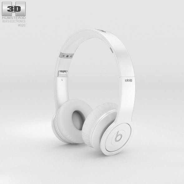 Beats by Dr. Dre Solo HD Matte White - 3DOcean Item for Sale