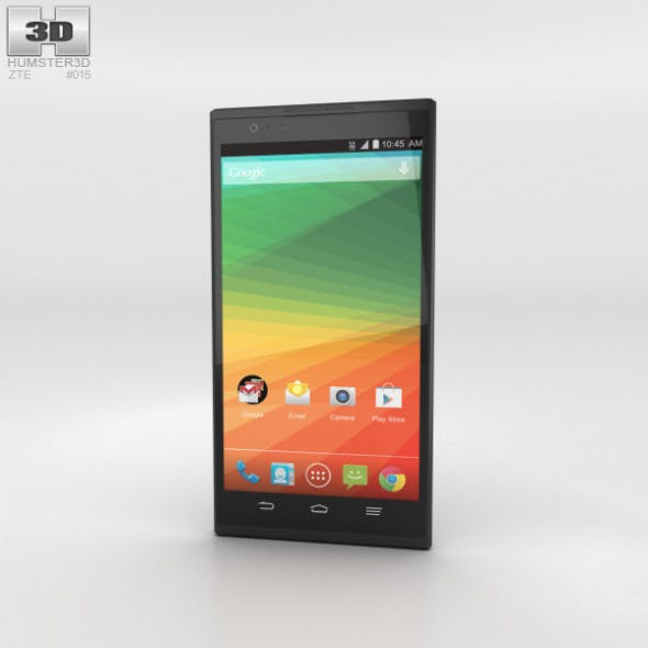 ZTE Zmax Black - 3DOcean Item for Sale