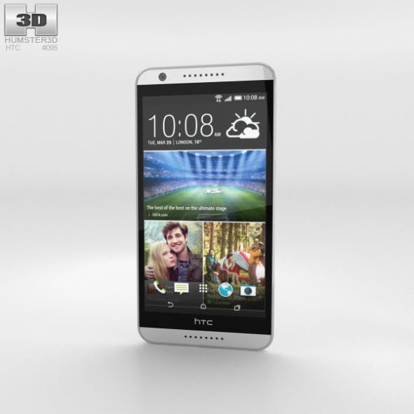 HTC Desire 820 Marble White - 3DOcean Item for Sale