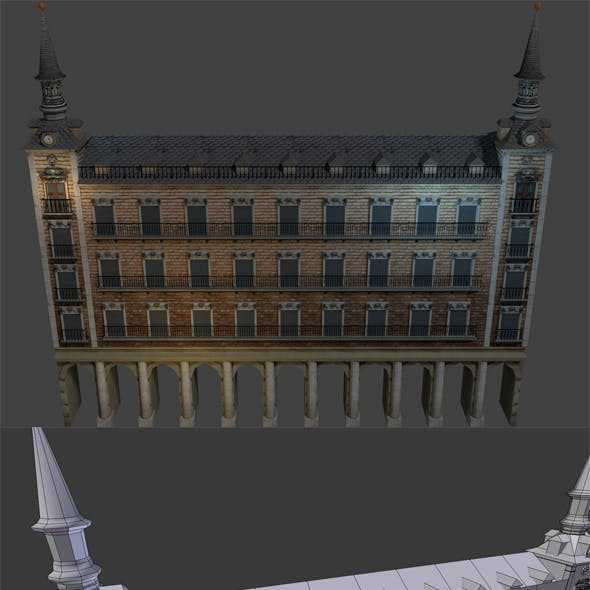 Spanish Building, Plaza (low poly)