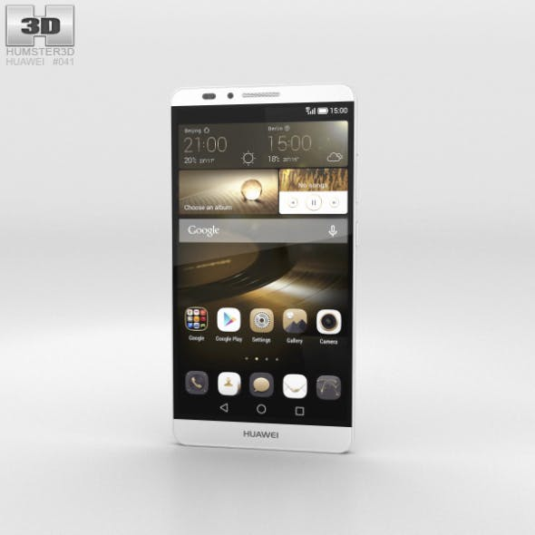 Huawei Ascend Mate 7 Moonlight Silver - 3DOcean Item for Sale