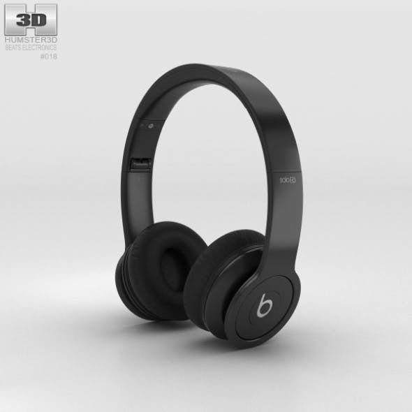 Beats by Dr. Dre Solo HD Matte Black - 3DOcean Item for Sale