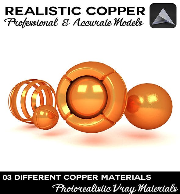 Copper Material - 3DOcean Item for Sale