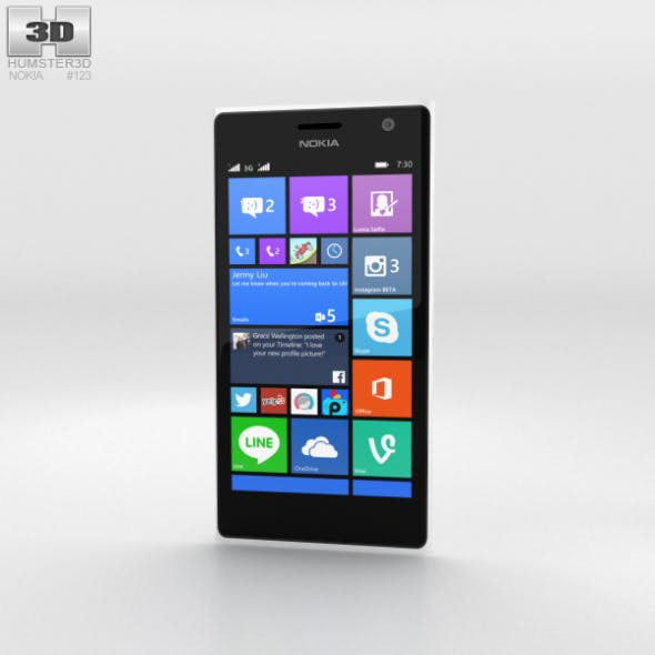 Nokia Lumia 730 White - 3DOcean Item for Sale
