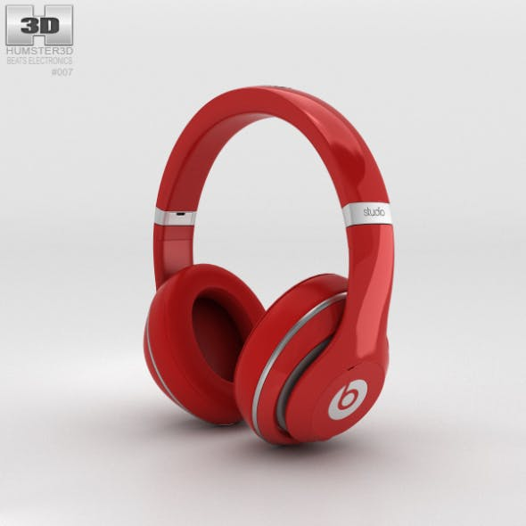 Beats by Dr. Dre Studio Over-Ear Headphones Red - 3DOcean Item for Sale