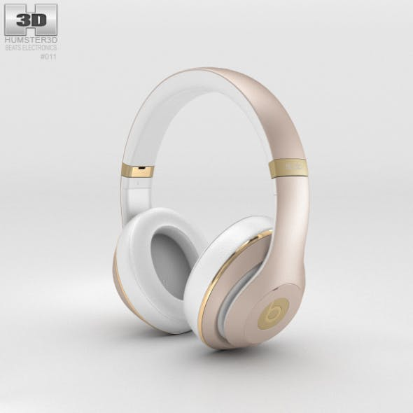 Beats by Dr. Dre Studio Over-Ear Headphones Champagne - 3DOcean Item for Sale