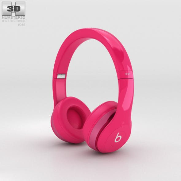 Beats by Dr. Dre Solo2 On-Ear Headphones Pink