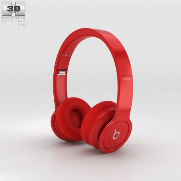 Beats by Dr. Dre Solo HD Matte Red - 3DOcean Item for Sale