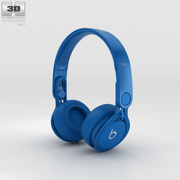 Beats Mixr High-Performance Professional Blue - 3DOcean Item for Sale