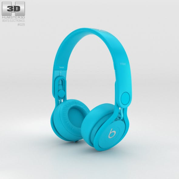 Beats Mixr High-Performance Professional Light Blue - 3DOcean Item for Sale