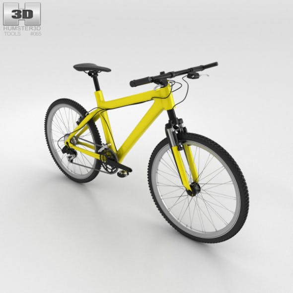 Bicycle Yellow - 3DOcean Item for Sale