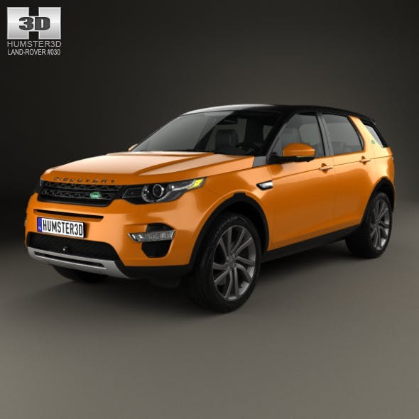 Land Rover Discovery Sport HSE Luxury 2015 - 3DOcean Item for Sale