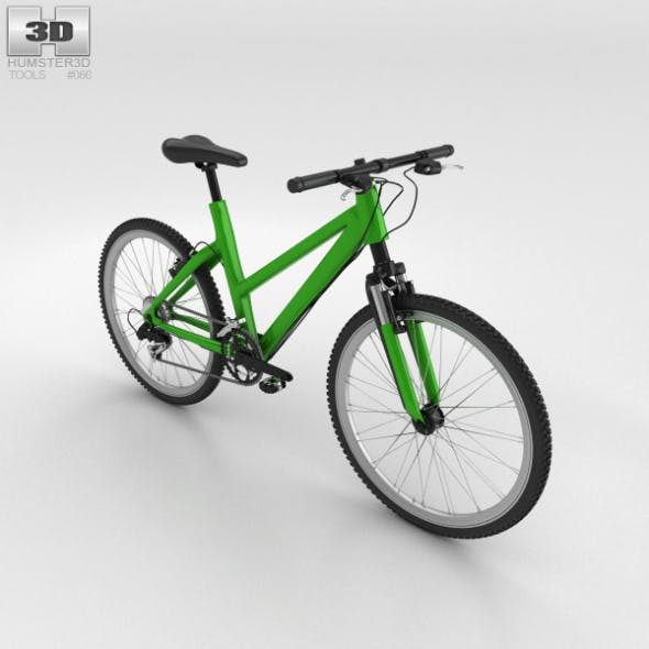 Bicycle Green - 3DOcean Item for Sale