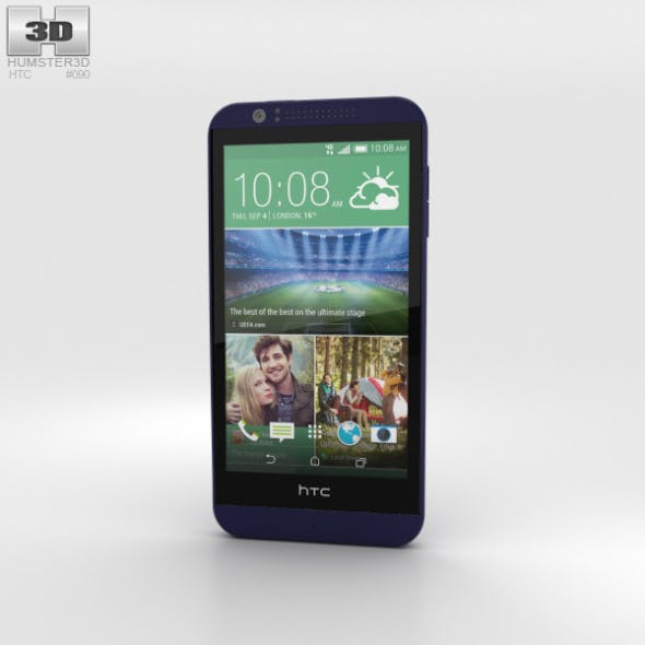 HTC Desire 510 Deep Navy Blue - 3DOcean Item for Sale