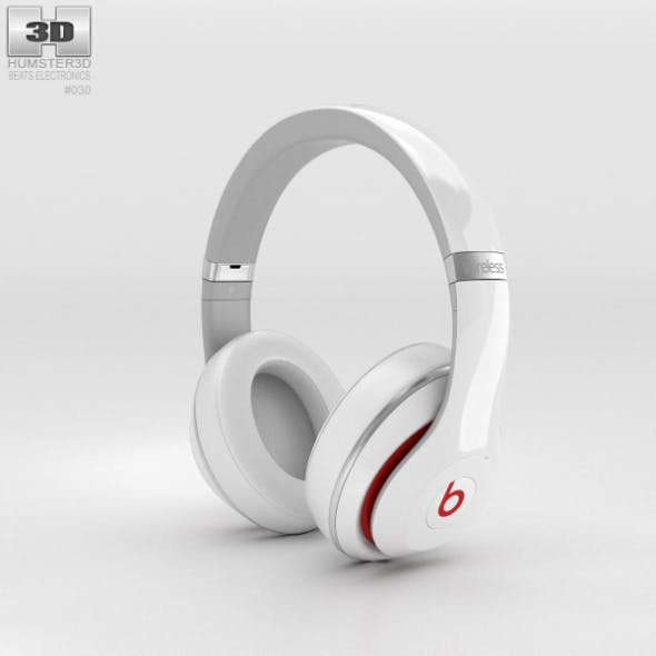 Beats by Dr. Dre Studio Wireless Over-Ear White - 3DOcean Item for Sale