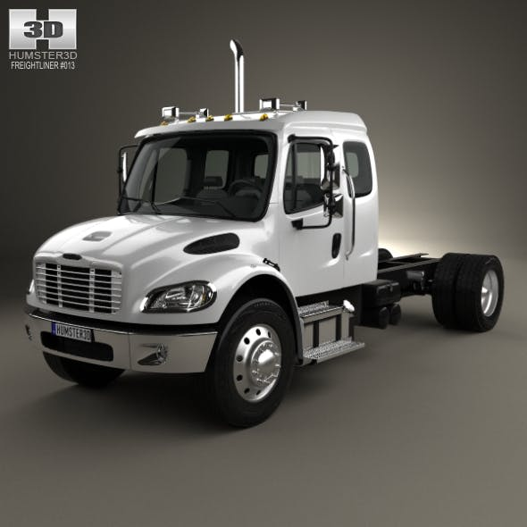 Freightliner M2 Extended Cab Chassis Truck 2014