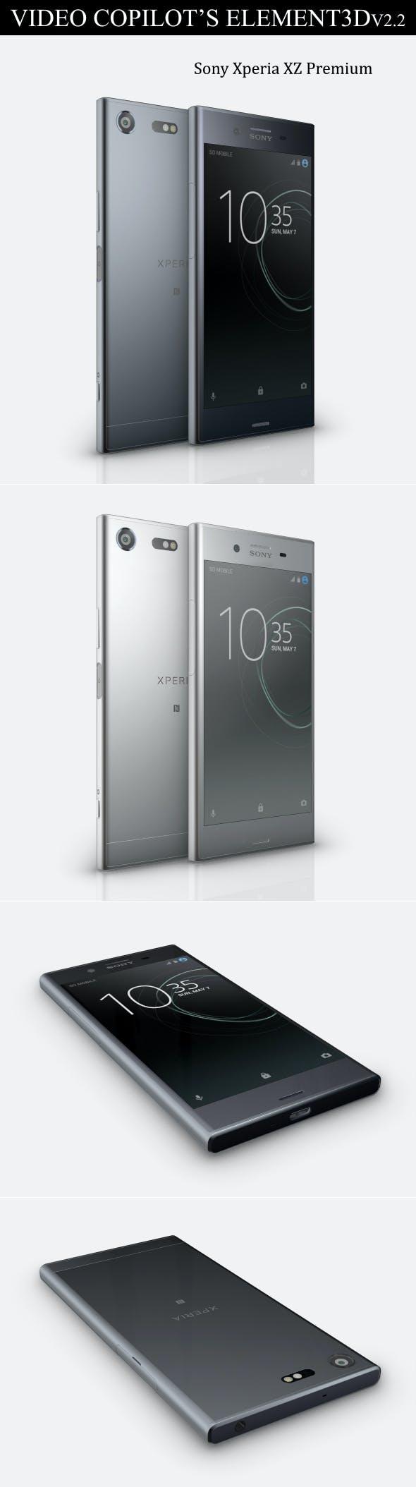 Element3D - Sony Xperia XZ Premium - 3DOcean Item for Sale