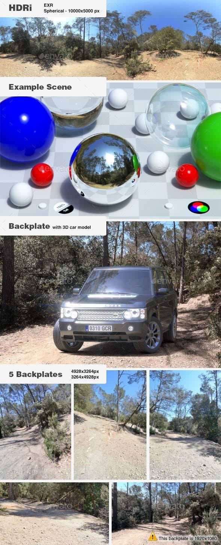 HDRi 007 - Exterior - Montana + Backplates - 3DOcean Item for Sale