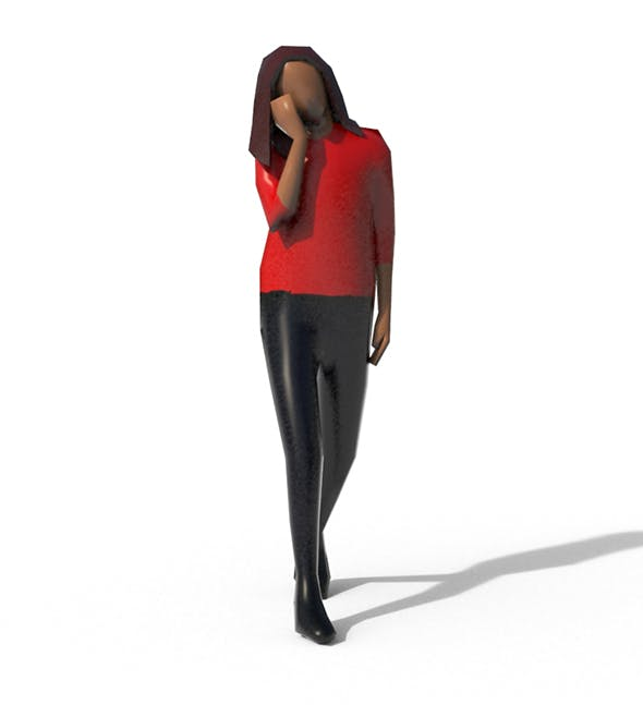 Low Poly Girl 04 - 3DOcean Item for Sale