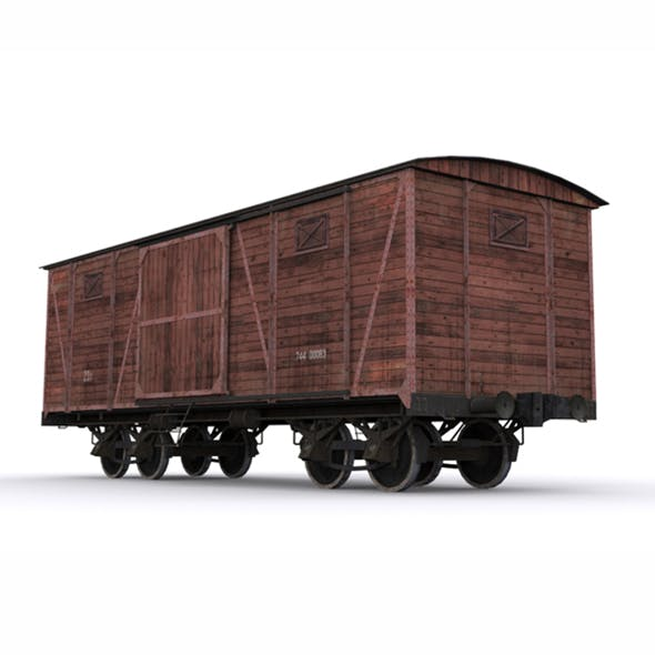 Old Railway Carriage - 3DOcean Item for Sale