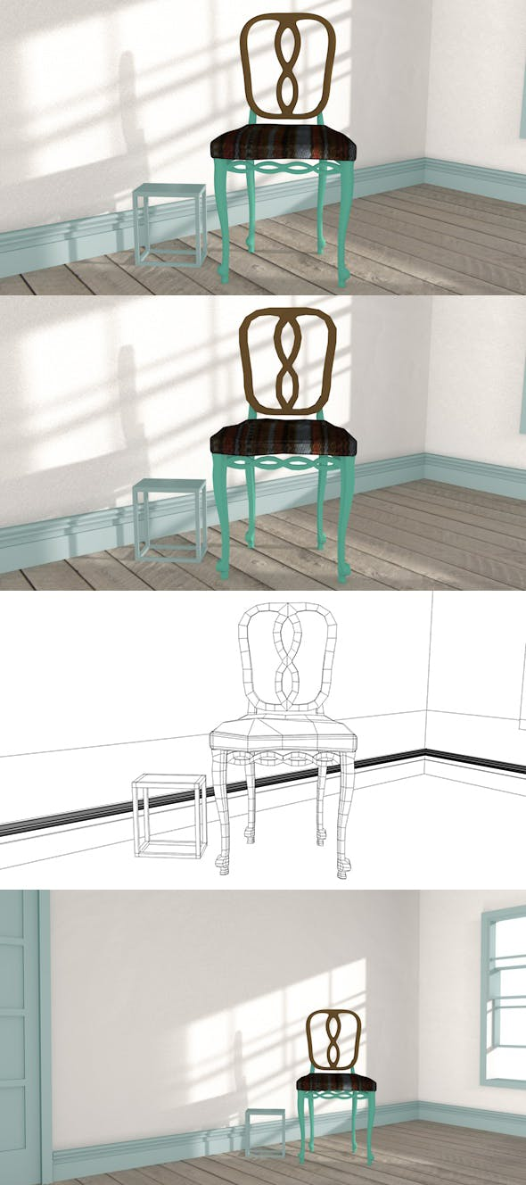 Chair-Coffee Table - 3DOcean Item for Sale
