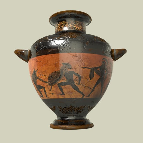 Pottery Ancient Greek Amphora v1