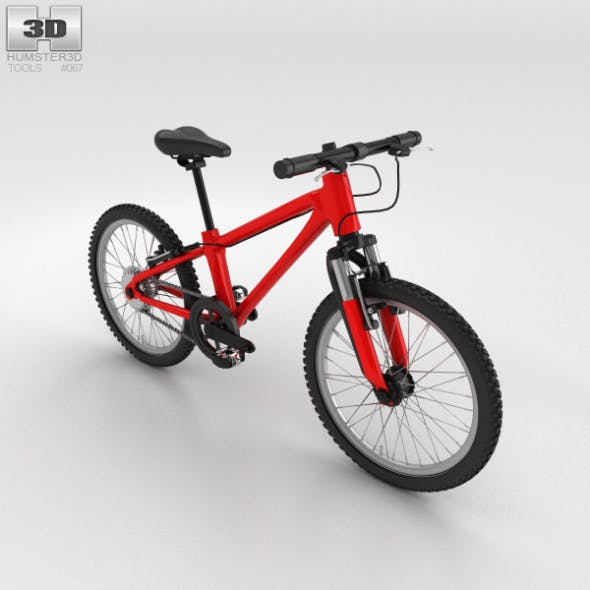 Bicycle Red - 3DOcean Item for Sale
