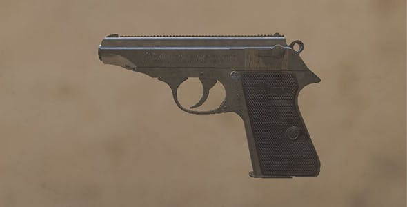 Walther PP pistol - 3DOcean Item for Sale
