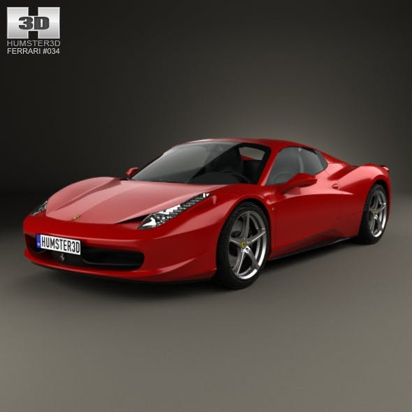 Ferrari 458 Spider 2010 - 3DOcean Item for Sale