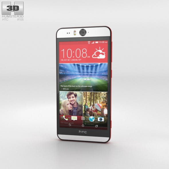 HTC Desire Eye Red - 3DOcean Item for Sale