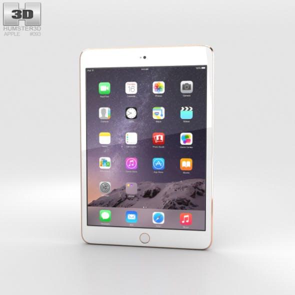 Apple iPad Mini 3 Gold - 3DOcean Item for Sale