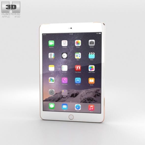 Apple iPad Mini 3 Cellular Gold - 3DOcean Item for Sale