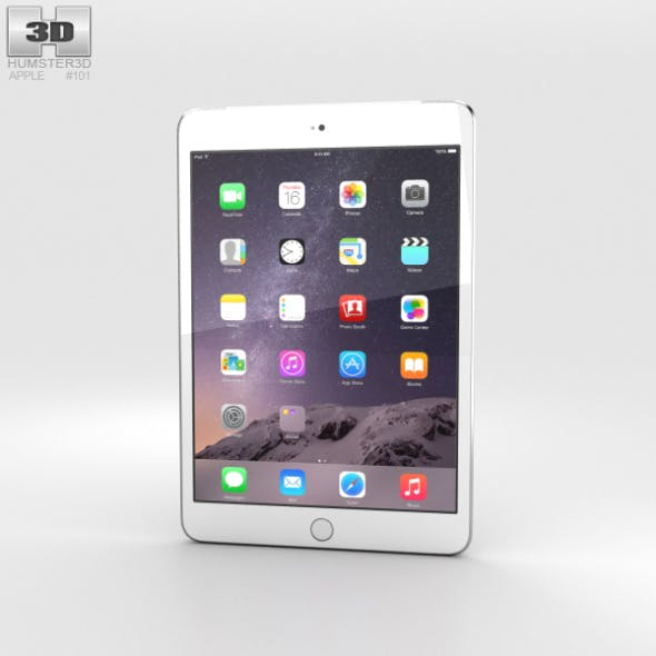Apple iPad Mini 3 Cellular Silver - 3DOcean Item for Sale