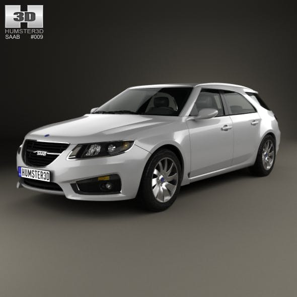 Saab 9-5 Sport Combi 2009 - 3DOcean Item for Sale