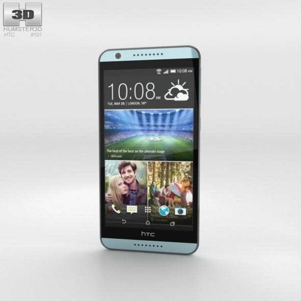 HTC Desire 820 Blue Misty - 3DOcean Item for Sale