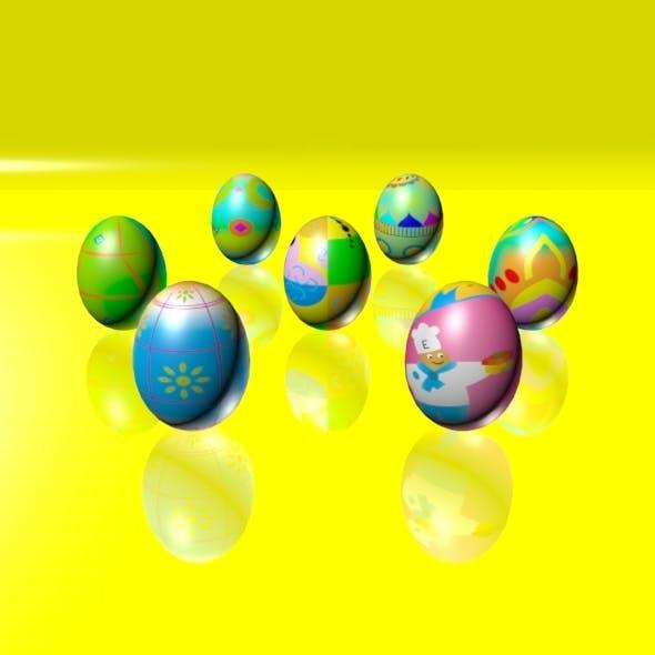 Easter Eggs Set 04 - 3DOcean Item for Sale