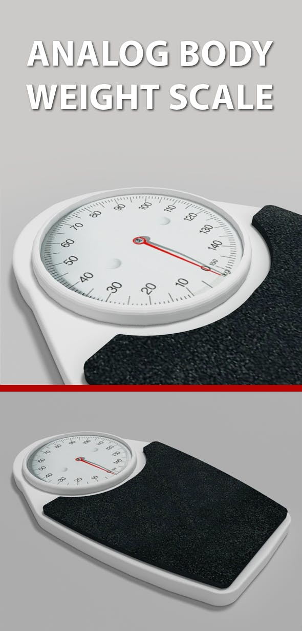 Analog Body Weight Scale - 3DOcean Item for Sale