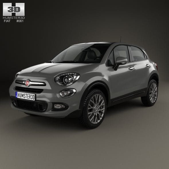Fiat 500X 2015 - 3DOcean Item for Sale