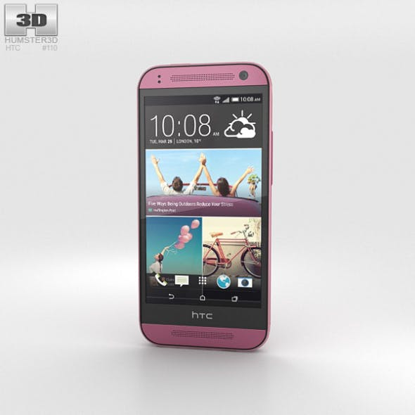 HTC One Mini 2 Pink - 3DOcean Item for Sale