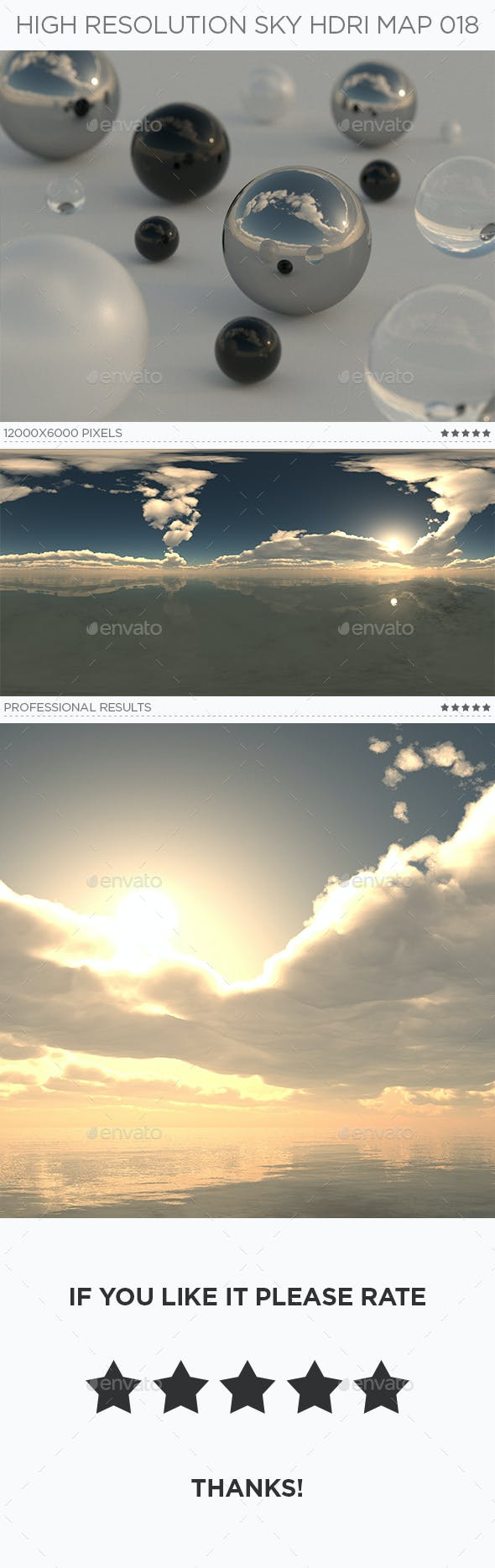 High Resolution Sky HDRi Map 018 - 3DOcean Item for Sale