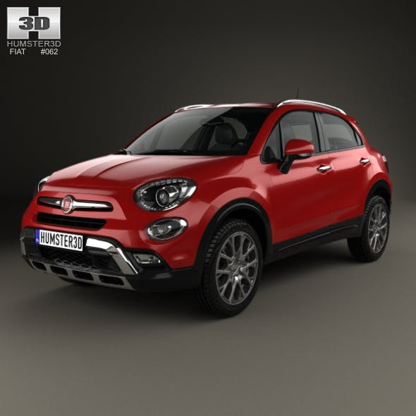 Fiat 500X Cross 2015 - 3DOcean Item for Sale