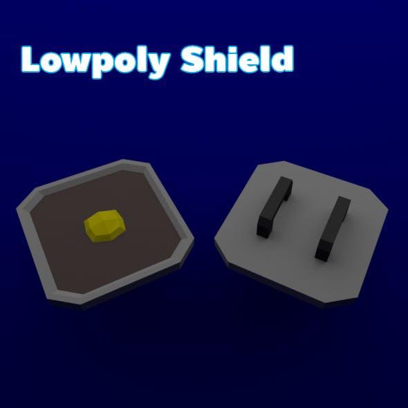 Lowpoly Shield - 3DOcean Item for Sale