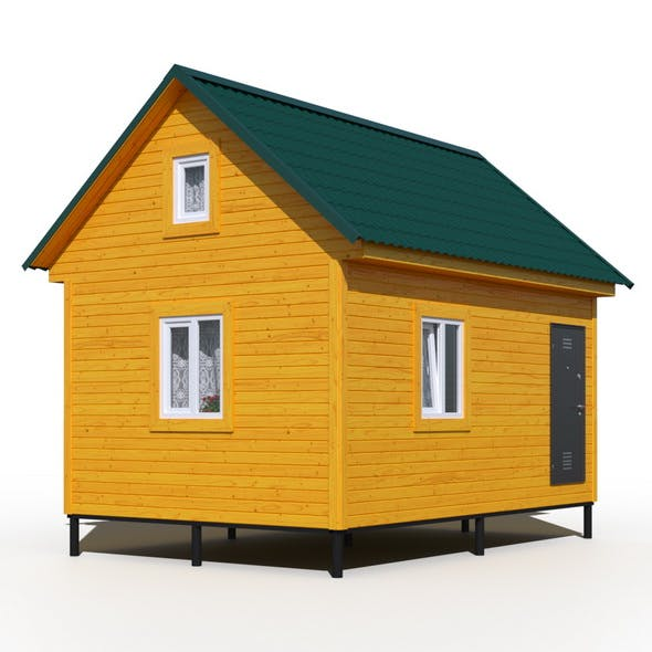 Wooden House - 3DOcean Item for Sale